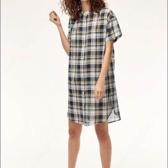 Wilfred Free // 'Frances' Light Blue Plaid Dress